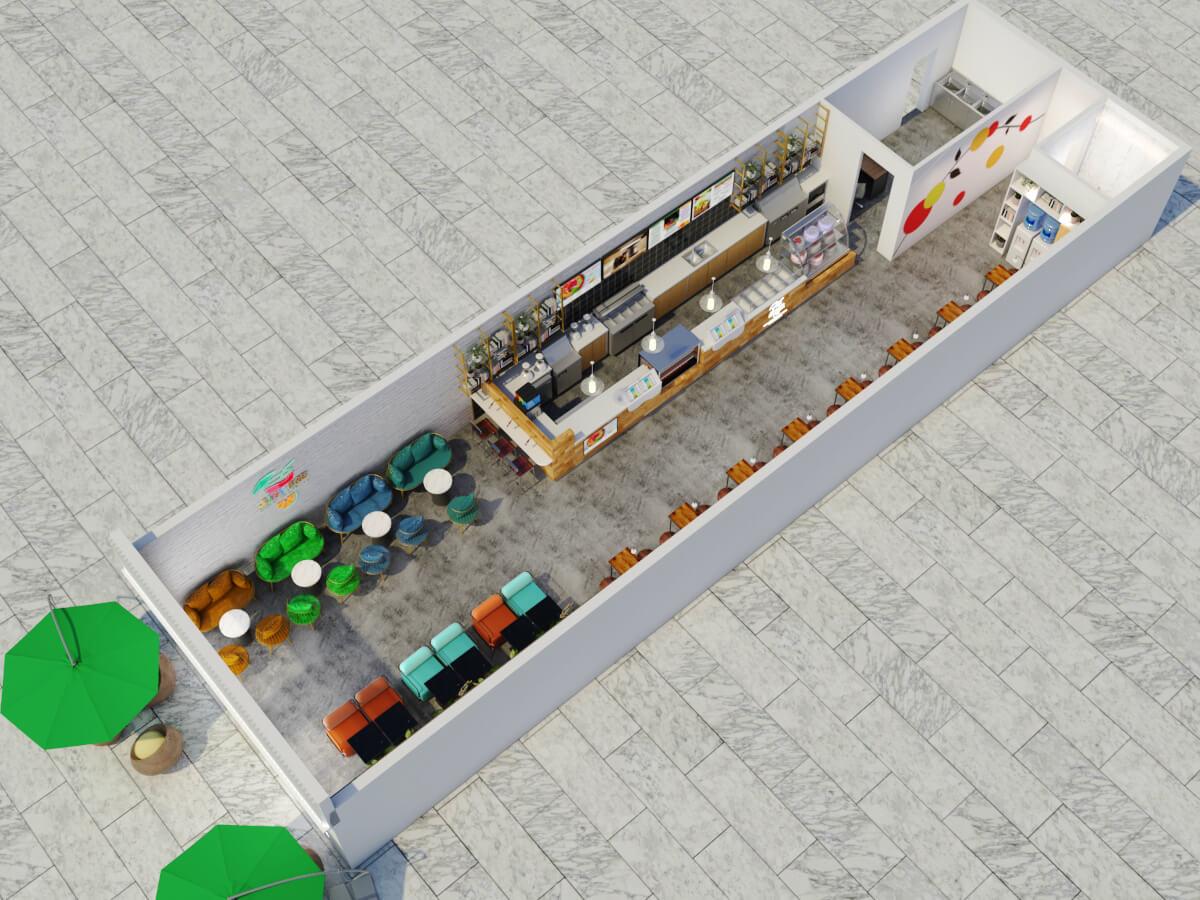 Bubble tea shop layout