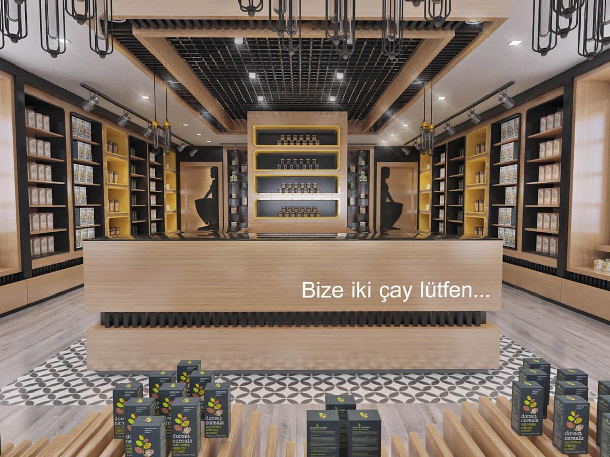 tea store design