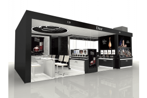 Some design ideas for the Dior cosmetic and perfume store fixtures