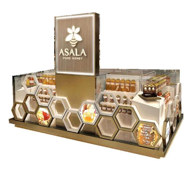 honey display showcase