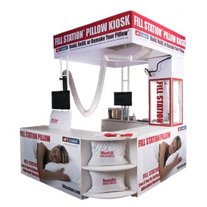 pillow cart kiosk design