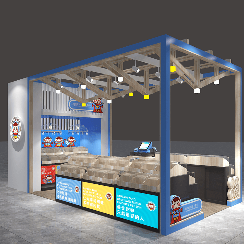 candy kiosk design in mall