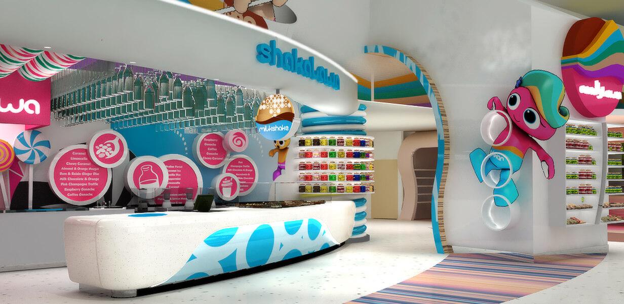 color candy shop design