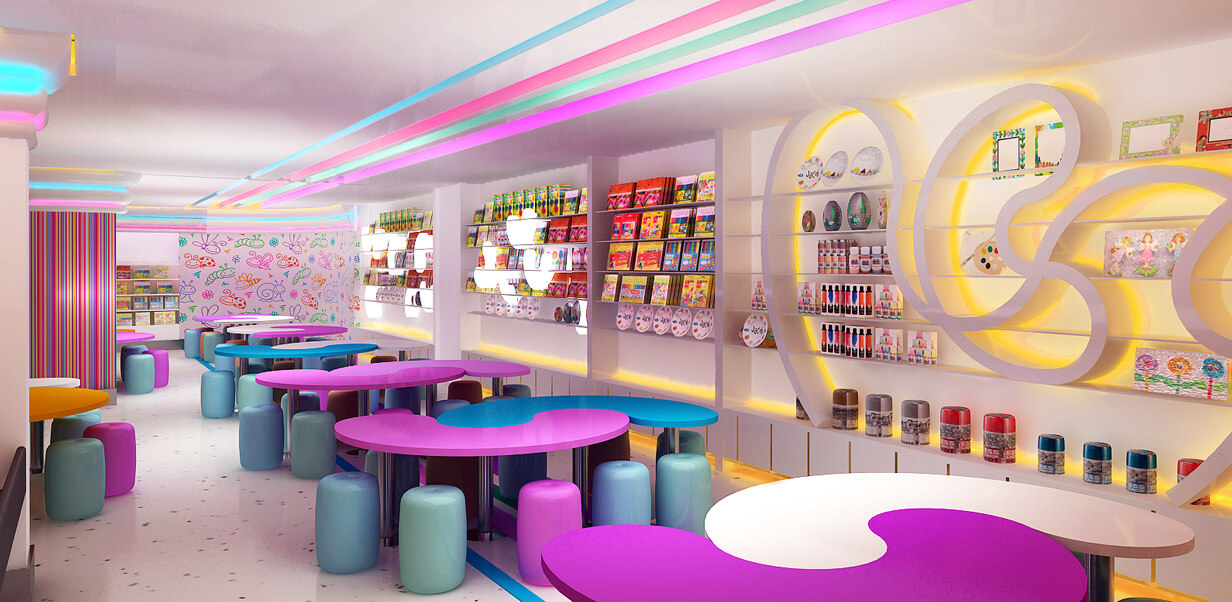 candy shop retail design