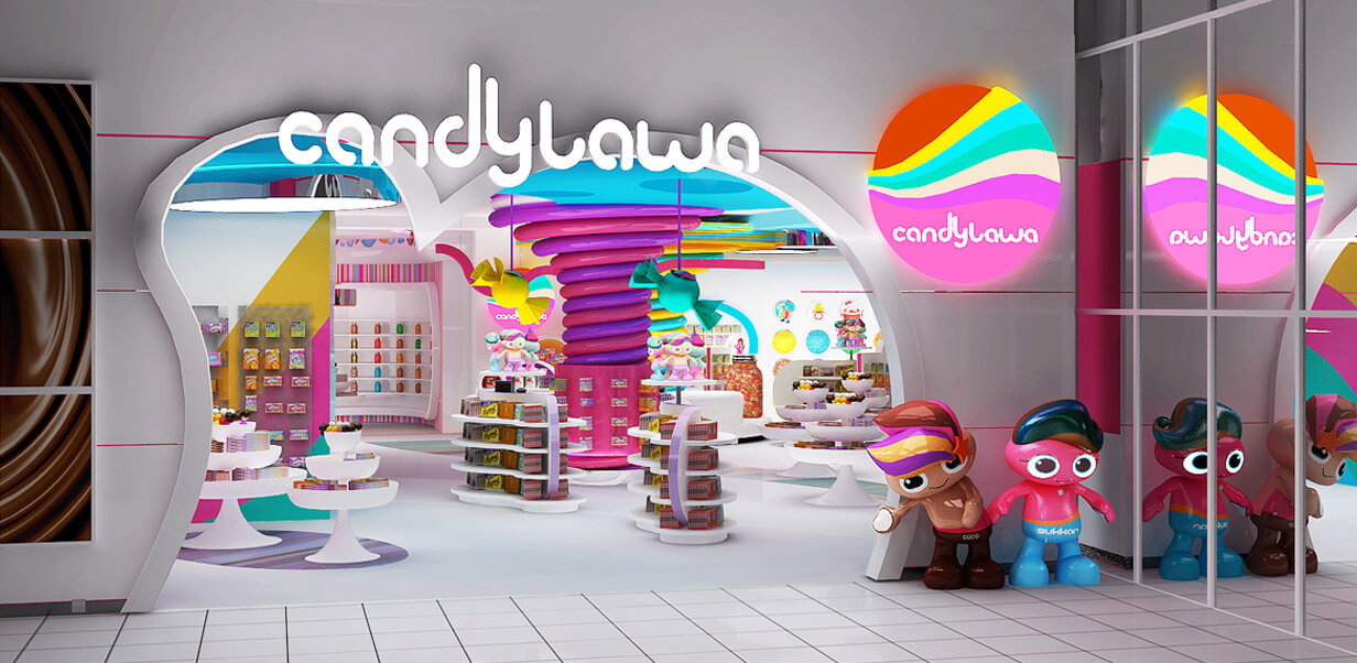 candy store decoration design