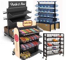 candy store retail racks