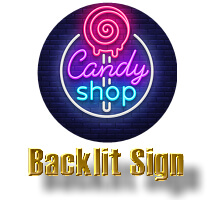 candy shop sign