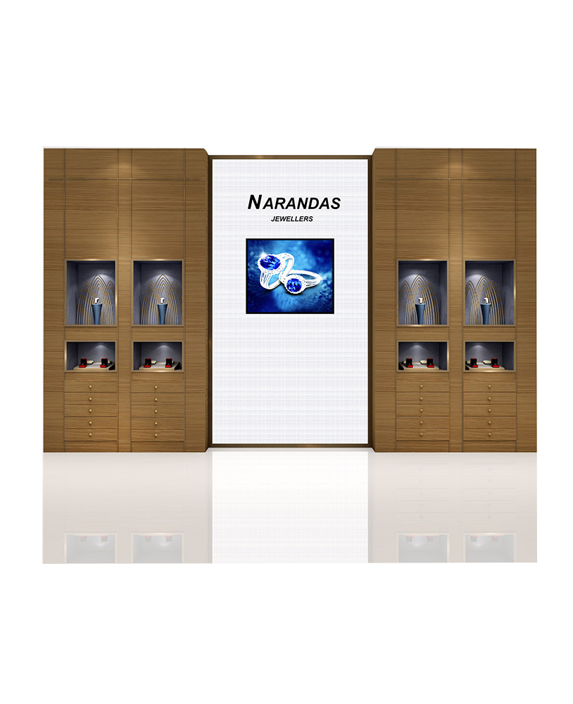 jewelry store wall display cabinet