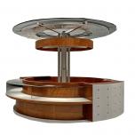 round kiosk design