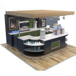 fashion coffee kiosk design coffee counters in mall for sale