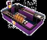 Purple Modern Popsicle Counter Newest Mall Ice Cream Kiosk