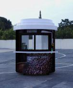 coffee cup kiosk
