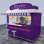 Purple yogurt outdoor cabinet | most popular food kiosk