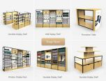 Cell Phone Accessories Store Fixtures W/ Retail Display Shelving Units, Gondola Display, Tierd Table & Wall Racks