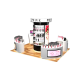 Modern Shopping Mall Perfume Kiosk High-end Perfume Display Counter Design