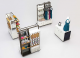 3m by 2m mall retail clothing kiosk accessories display stand share you