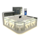 10x10ft double-deck jewelry display showcase 3d design