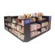 Retail book display kiosk book display shelf design used in shopping mall