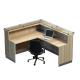 L design reception desk