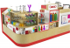 Customized Gift Kiosk Fashion Mall Display Counter Retail Present Shelf For Sale