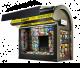Black Outdoor Book Kiosk Modern Newspaper Booth For Sale