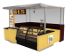 Modern Donut Kiosk Bakery Display Counter Mall Fast Food Booth For Sale