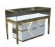 Customized Jewelry Display Cabinet Retail Stainless Steel Display Counter For Sale