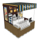 High quality popcorn display kiosk | custom shopping mall snack booth