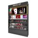 Black Cosmetic Display Stand Retail Makeup Display Shelf Design