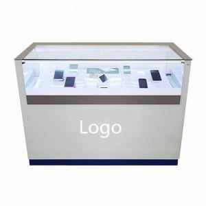 Cellphone retail glass showcase design | custom modern smart phone case