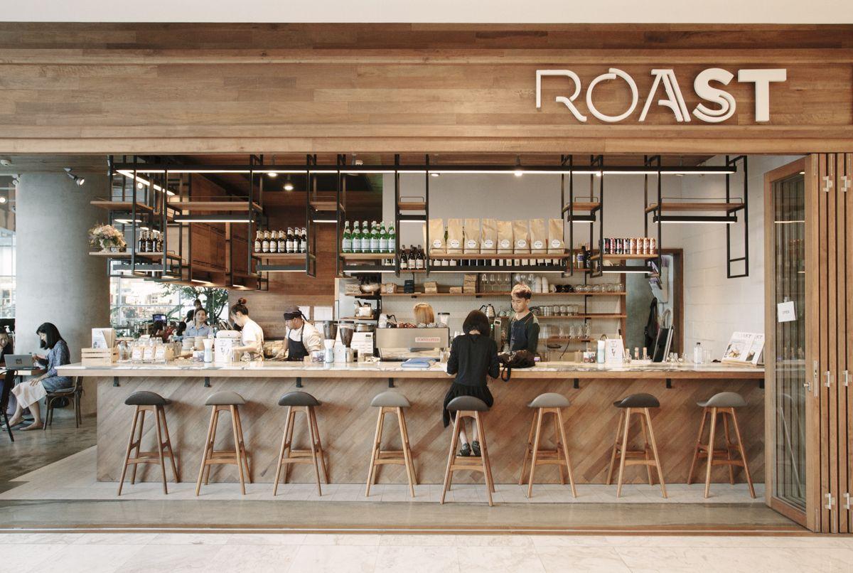 Roast coffee shop coffee bar design