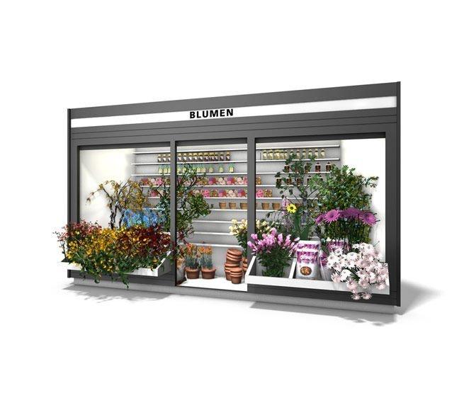 pop up flower kiosk