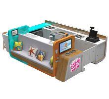 ice cream kiosk in mall