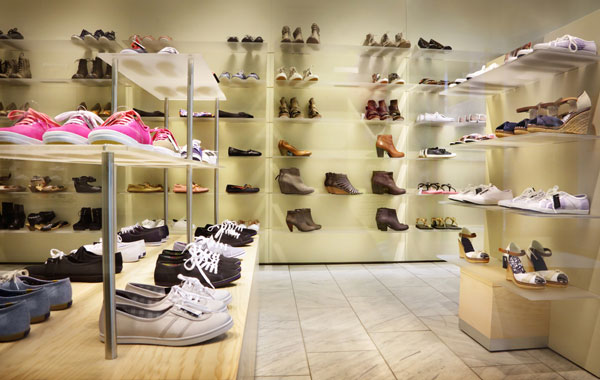 shoe store display