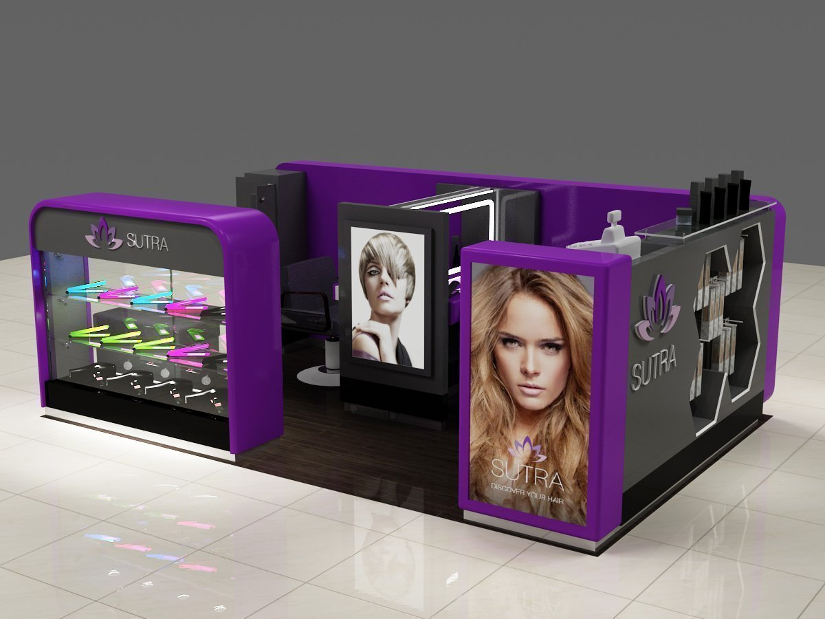 hair straightener kiosk