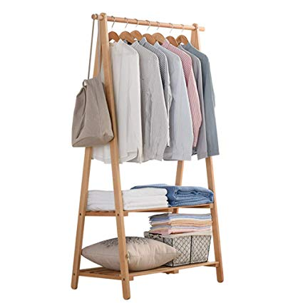 A frame wooden clothes racks