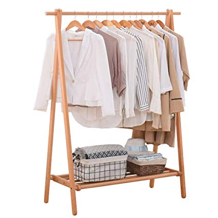 wood clothing racks