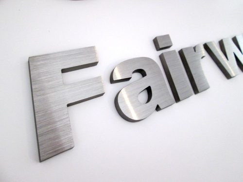 stainless steel letters logo