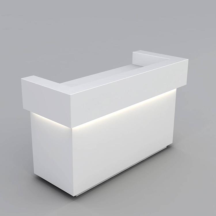 white retail counter