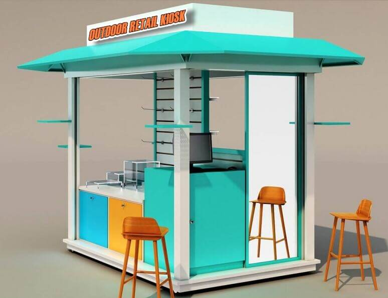 outdoor retail kiosk