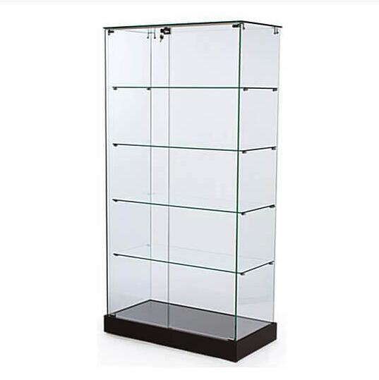 tall-frameless-glass-display-showcase-with-black-base