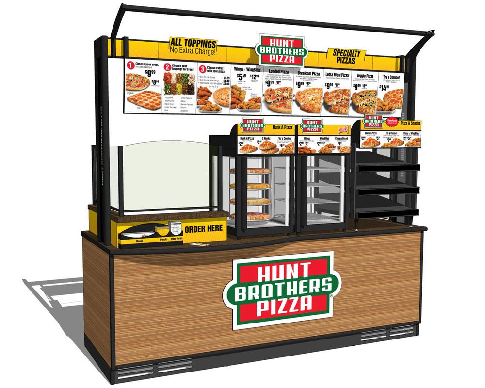 burger pizza cart stands