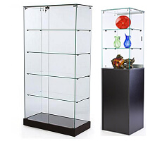 Frameless Display Cases