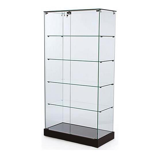 frameless display case