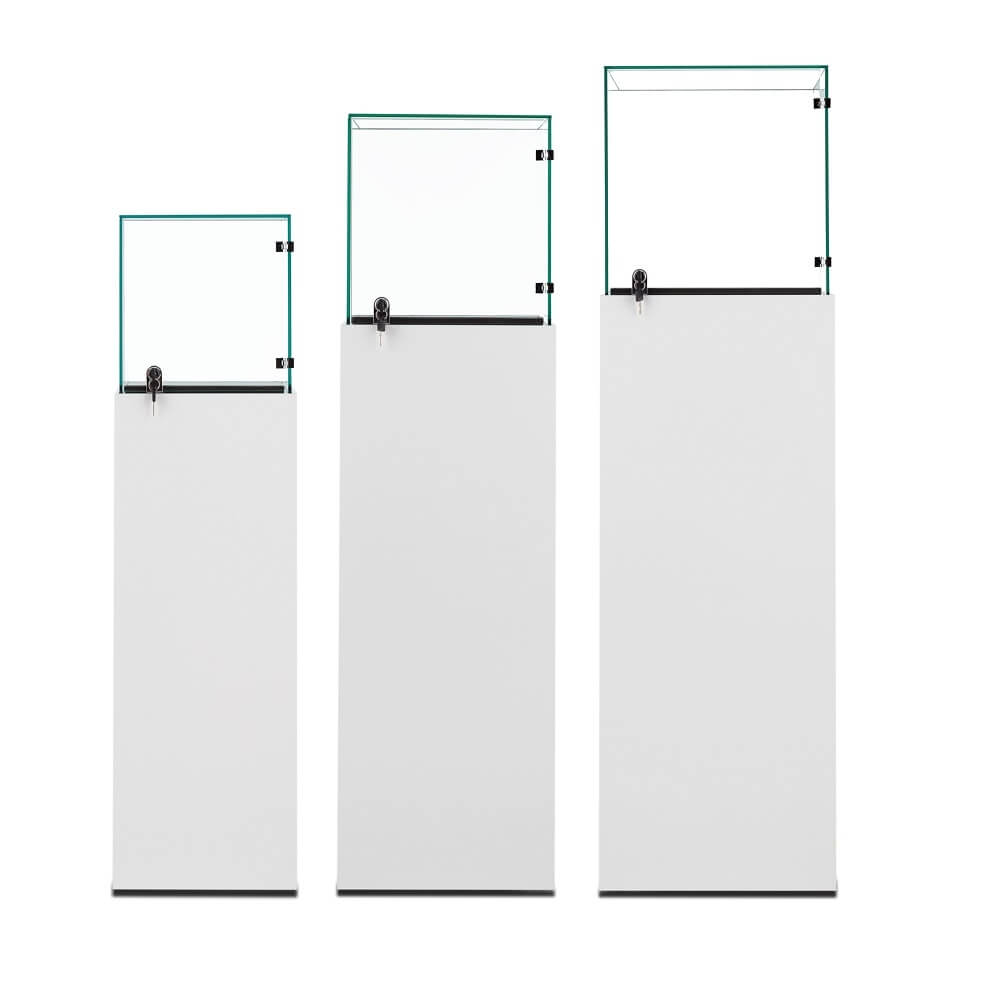 pedestal display cases