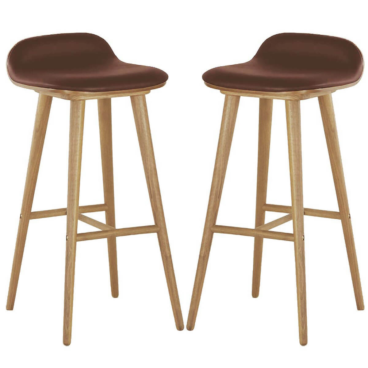 oak wood bar stools
