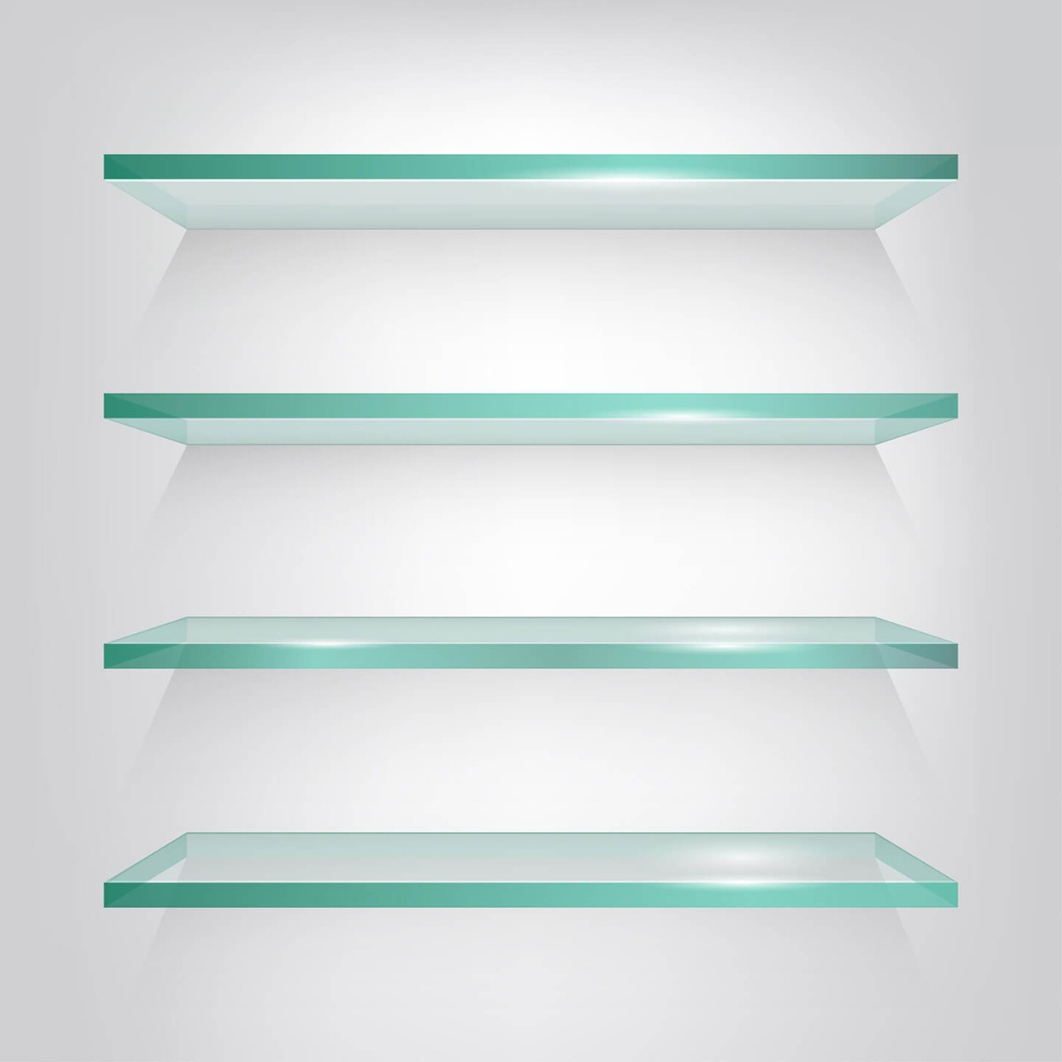 tempered glass display shelf