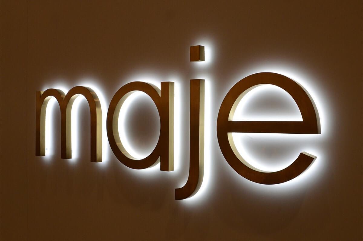 backlit logo