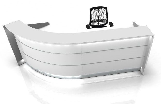Arc Shaped Curved Reception Desk