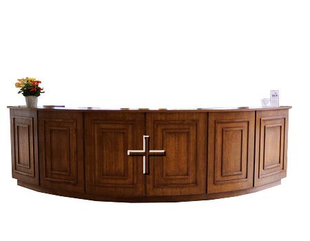 church welcome center reception desk